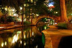 San Antonio Riverwalk - At Night by LotusMoon, via Flickr