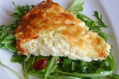 My favorite quiche is a simple cheese quiche; no crust, and no endless combinations of vegetables to interfere with the creamy custard. I prefer a fresh salad on the side. And this three ingredient… Greek Recipes, Real Food Recipes, Cooking Recipes, Healthy Recipes, Breakfast Quiche, Breakfast Recipes, Cetogenic Diet, Feta, Cheese Quiche