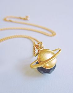 The Rings Of Saturn Planet Necklace — Eclectic Eccentricity Vintage Jewellery