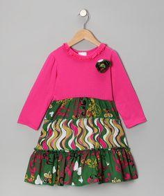 Green Butterfly Ruffle Knit Dress - Toddler & Girls