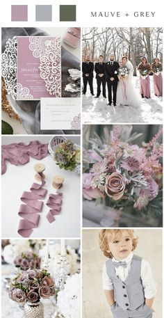 Mauve is probably one of my favorite shades of purple. It's a gorgeous, muted shade of light purple that has a slight tinge of grey. Lavender Wedding Colors, Dark Purple Wedding, Indigo Wedding, Gray Wedding Colors, Mauve Wedding, Summer Wedding Colors, Wedding Gift Registry, Wedding Trends, Wedding Ideas