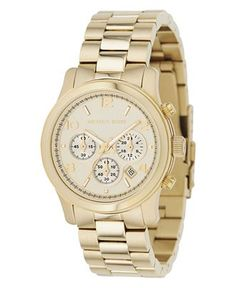 Michael Kors Chronograph Watch... you never see me without it!