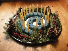 salt dough yule spiral - for winter solstice? Samhain, Pagan Yule, Wiccan, Yule Crafts, Holiday Crafts, Holiday Fun, Winter Holidays, Winter Christmas, Christmas Time