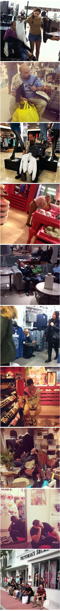 Hahaha hombres y sus mujeres de compras
