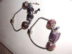 Purple Charm Bracelets