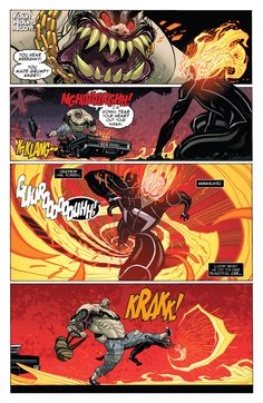 """smillingcartoonist: """" All New Ghost Rider 4 # """" Written by Felipe Smith ( @felipesmithart ), drawn by Tradd Moore, colored by Val Staples! Get ready for the return of Robbie Reyes in GHOST RIDER #1, out November 30th, 2016!"""