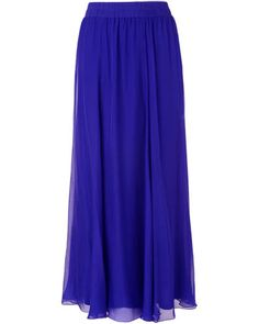Women's Periwinkle Iona Silk Maxi Skirt
