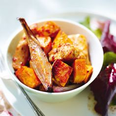 176 calories This is a great way to use up vegetables you have in the refrigerator. Roasting in cajun spices brings new life to practically any veg. Serves 1 Preparation time: 10 minutes Cook time:...