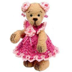 Miniature Thread Crochet Bear Pattern - Chloe - PDF Download.
