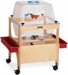 The Critter Cove Observation Activity Tub has see-thru clear acrylic tubs that encourage hands-free observation. Remove the cover and Critter Cove serves dual purposes as a Sensory Table (9 inches deep). Includes an air vent, drain valve and two storage trays.  #sensoryedge #growingcreativekids #butterflycove http://www.sensoryedge.com/critter-cove.html