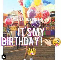It's my bdayy Birthday Girl Quotes, Birthday Goals, Valentines Day Birthday, 13th Birthday Parties, Birthday Gifts For Teens, July Birthday, Happy Birthday Me, Girl Birthday, Birthday Post Instagram