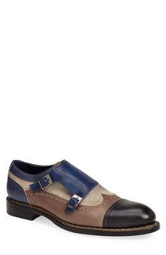 Dogen 'Vitello Crust' Double Monk Strap Shoe (Men) available at #Nordstrom