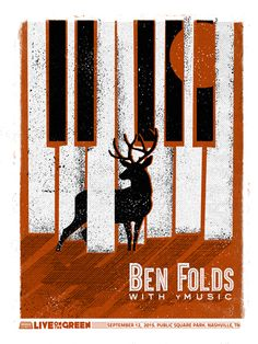 Ben Folds with yMusic. Poster design: Friendly Arctic (2015).
