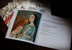 """""""Mary Holds My Hand"""" rosary book for children, with original artwork. $13 on Etsy. Gift?"""