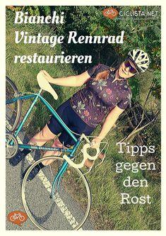 Bianchi Vintage Rennrad restaurieren - Tipps zum Aufbau und gegen den Rost. - Bianchi Rekord 845 reparieren. #Rennrad #Vintage #Retro Triathlon, Radler, Bicycle, Retro, Trial Bike, Bike Rides, Restore, Road Cycling, Triathalon