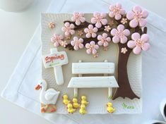 "#COOKIE CONNECTION ALERT! ""Walking Toward Spring"" cookie platter, especially for beginners, in the latest edition of Made by Manu tutorials! COOKIES, PHOTO, AND TUTORIAL BY MANU."