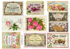 10 FURNITURE WATER SLIDE DECAL SHABBY CHIC FRENCH IMAGE TRANSFER VINTAGE LABELS