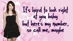 Carly Rae Jepsen - Call Me Maybe {LYRICS}   New Single!