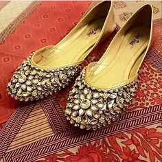 Pure Golden Kundan Khussa Clutch is not included in this deal Rs 2599 (Without Anklets) Rs 3300 (With anklets) SALE FOR FEW DAYS Sizes: or Delivery in days Most famous Kundan Khussa You can wear them on any event Size can exchange even after Delivery Indian Shoes, Bridal Sandals, Shoe Art, Pumps, Heels, Anklets, Designer Shoes, Wedding Jewelry, Pakistan