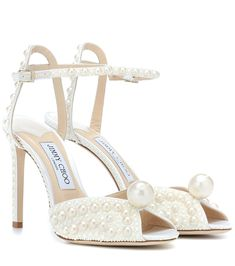 "Jimmy Choo Sacora 100 embellished sandals Jimmy Choo - Sacora 100 embellished sandals - Embrace a ""more is more"" philosophy with Jimmy Choo's Sacora 100 sandals, . Christian Louboutin, Best Bridal Shoes, Bridal Heels, Wedding Heels, Embellished Sandals, Vintage Stil, Jimmy Choo Shoes, Ring Verlobung, Clutch"