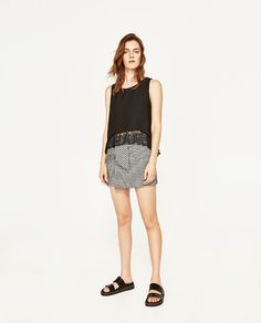 ZARA - WOMAN - DOUBLE LAYER TOP WITH LACE DETAILS