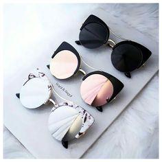 Types Of Sunglasses, Stylish Sunglasses, Cat Eye Sunglasses, Mirrored Sunglasses, Sunglasses Price, Vintage Sunglasses, Glasses Frames Trendy, Fake Glasses, Glasses Trends