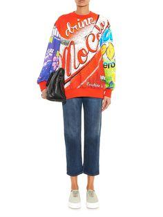 Moschino Logo-print sweatshirt #MATCHESFASHION