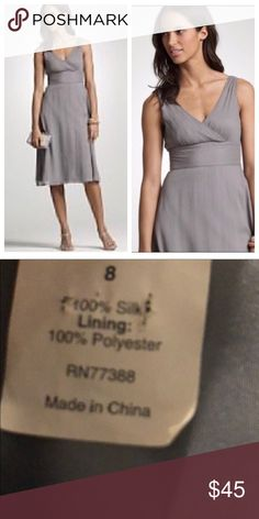 Crew Chiffon Dress Hidden back zip and clasp. Light weight and lined . Moves with you and flowy. In new condition. Plus Fashion, Fashion Tips, Fashion Design, Fashion Trends, Beaded Tassel Necklace, Chiffon Dress, Zip, Gray, Formal Dresses