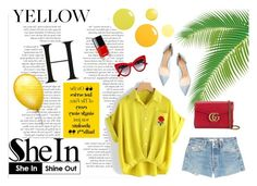 """Yellow yellow !"" by lenaick ❤ liked on Polyvore featuring RE/DONE, Dolce&Gabbana, Chanel, Gucci and Gianvito Rossi"
