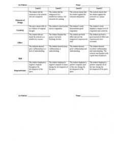 General Art Rubric. Love the responsiveness category