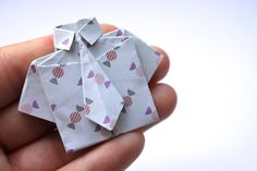 origami-shirt-tie-gift craft for Father's Day