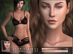 A new skin for female sims! R skin 11 Found in TSR Category 'Sims 4 Skintones'