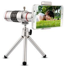 Aliexpress.com: Comprar 18X Universal teleobjetivo teléfono móvil Zoom óptico del telescopio cámara con trípode para el iPhone Sumgung HTC Huawei de los precios de la cámara del teléfono fiable proveedores en Elecguru