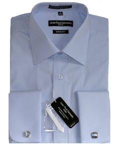 Amazon.com: Blue French Cuff Dress Shirt (Cufflinks Included): Clothing French Cuff Dress Shirts, Collar Stays, Dapper Men, Shirt Dress, Men Dress, Soft Fabrics, Cufflinks, Lady, Mens Tops