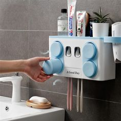 Wall Mounted Toothbrush Holder, Cheap Bathroom Accessories, Dryer Stand, Toothpaste Holder, Family Set, Bathroom Wall, Hair Dryer, Storage, Free Shipping