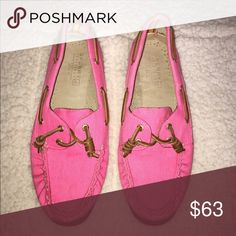🌷Bright Pink Sperry Top-Siders🌷 OH SO PRETTY IN PINK! Size 9 only worn once! Sperry Top-Sider Shoes Flats & Loafers