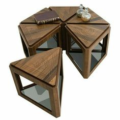 Versatility is the name of the game with the Keyfex Bermuda Walnut 6 Piece Coffee Table Set . Multifunctional Furniture, Modular Furniture, Metal Furniture, Table Furniture, Furniture Design, Furniture Ideas, Vintage Furniture, Coffee Table With Seating, Coffe Table