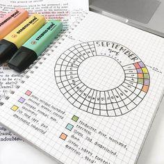 SEPTEMBER monthly mood tracker for your Bullet Journal - Follow LUST THAT BUJO for more Bullet Journal Inspiration @lustthatbujo