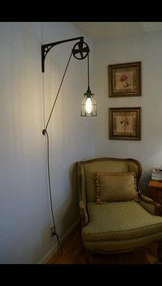 Amazing lamp idea! #hang #lamp #old #retro #industrial