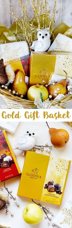 Gold Gift Basket Ide