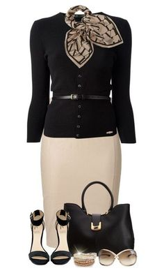 probably wouldn't wear the scarf, but this is a cute outfit