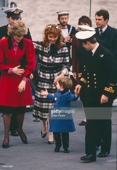 Diana The Princess of Wales accompanied by Sarah Ferguson take Prince... News Photo   Getty Images