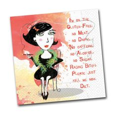 Please just kill me now diet - Funny Cocktail Napkins - Napkins2go
