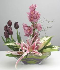Pink Modern Centerpiece