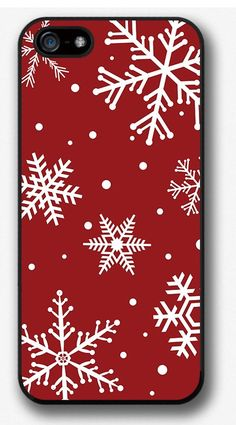 iPhone 4 4S 5 5S 5C case, Snowflakes on red - That's a great gadget ! Check our collections of iPhone Cases ! http://www.kctech-maxpro.com/#!iphone-6-case/cirv