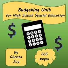 Budgeting Unit for High School Special Education by Special Needs for Special Kids School Plan, School Sets, Teaching Life Skills, Teaching Ideas, Teaching Math, Consumer Math, Letter To Parents, High School Years, Making A Budget