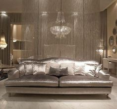 silver couch