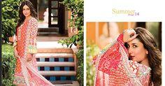 Kareena Kapoor Endorses Faraz Manan's Crescent Lawn Collection 2014 - BrandSynario