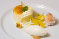 Atlantico @ St Regis Bal Harbour: Spanish Crema Catalana, Anisette Bunuelos, Cinnamon Ice Cream, Oranges Segmets