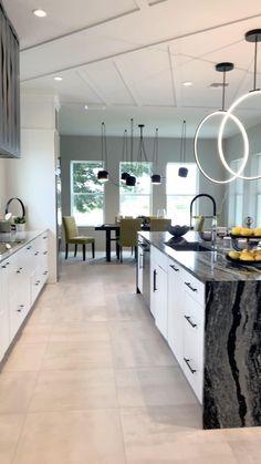 Kitchen Room Design, Home Room Design, Dream Home Design, Interior Design Kitchen, Contemporary Kitchen Cabinets, Contemporary Kitchen Design, Modern Contemporary, Minimalist Kitchen, Cuisines Design